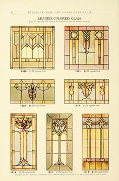 Window Art Glass of 1914 by the National Ornamental Glass Manufacturers Association of the United States and Canada