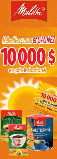 Gagnez 1 des 28 prix de 10 000 $. Fin le 1er mai.  http://rienquedugratuit.ca/concours/meilitta-28-prix-de-10-000/