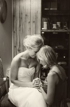 pre wedding ceremony prayer, bride and sister - Jayne B Photography