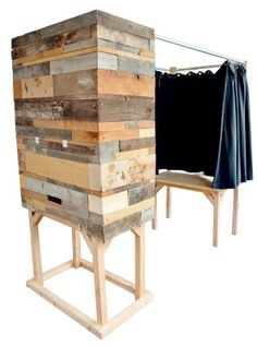 Okay maybe not a DIY - but I love this photobooth and the reclaimed wood.