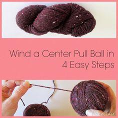 Center Pull Ball of Yarn Tutorial Graphic