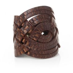 Braided Leather Cuff Brown