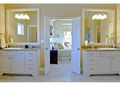 His and Hers Vanities in The Chesapeake at McCullough