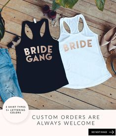 Bachelorette Party Shirts Bride Squad Shirts Bridesmaid | Etsy Bridal Party Shirts, Bachelorette Party Shirts, Bridesmaid Shirts, Brides And Bridesmaids, Bride Squad, Beach Bridal Showers, Girls Weekend, Birthday Shirts, Types Of Shirts