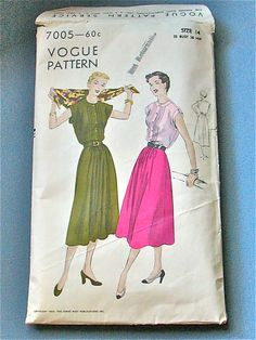 Vintage Vogue 7005 pattern from the year 1950.  Bust by Fancywork