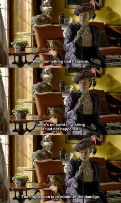 """Lady Violet refering to Lady Mary's """"incident"""" with Mr, Pamuk Downtown Abbey Quotes, Downton Abbey Season 1, Lady Violet, John Wilson, Dowager Countess, Maggie Smith, Tv Quotes, Howls Moving Castle, Period Dramas"""