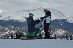 Proposal on Peak 7 at the Breckenridge Ski Resort--aww thought this was cute!