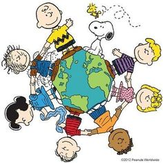 'We Are the World', Charlie Brown, Snoopy, Linus, and the Peanuts Gang. Charlie Brown Y Snoopy, Snoopy Love, Snoopy And Woodstock, Peanuts Cartoon, Peanuts Snoopy, Peanuts Characters, Cartoon Characters, Snoopy Quotes, Peanuts Quotes