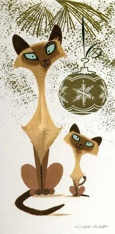 Christmas Siamese cats. Hahaha! I don't know why I love this so much.