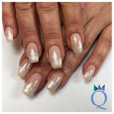 #almondnails #gelnails #nails #glitter #fade #mandelform # ...