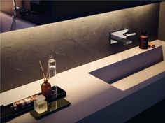 HIM Mezclador de lavabo de pared by ZUCCHETTI diseño Ludovica+Roberto Palomba