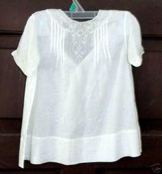 Beautiful Vintage White Batiste Baby Dress Handmade Nice Doll Dress | eBay
