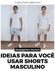 Ideias e inspirações para você usar o seu shorts masculino com estilo, seja estampado, floral, tropical ou mesmo liso.