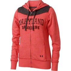 Maryland Terrapins Women's Under Armour Full-Zip Hooded Sweatshirt #maryland #terps #terrapins