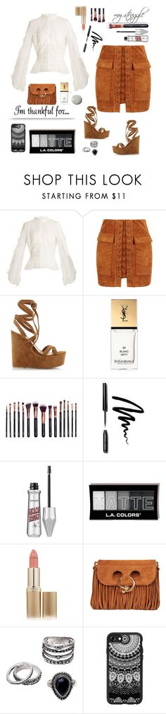 """""""Thankful for my struggle"""" by cybergirl94 ❤ liked on Polyvore featuring Jonathan Simkhai, WithChic, Gianvito Rossi, Yves Saint Laurent, M.O.T.D Cosmetics, Bobbi Brown Cosmetics, L'Oréal Paris, J.W. Anderson, Casetify and Urban Outfitters"""