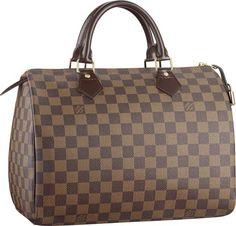 Louis Vuitton Damier Speedy handbag.