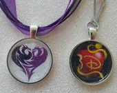 Disney Descendants ICON Inspired Necklace or Zipper Pull Evie Mal