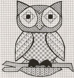 Stitch pattern for Owl outline