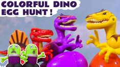 Funny Funlings learn colors with Hide and Seek colorful Dinosaur Eggs with Thomas The Train on a dinosaur egg hunt. The dinosaurs have all lost their eggs.