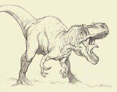 little t rex sketch Dinosaur Sketch, Dinosaur Drawing, Dinosaur Art, Animal Sketches, Animal Drawings, Drawing Sketches, Art Drawings, Dinosaur Tattoos, Dinosaur Images