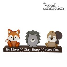 Animal Critter Trio - The Wood Connection