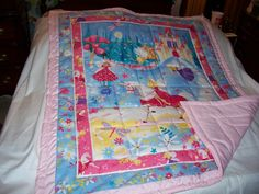 Handmade Baby Unicorn, Princess, Fairies Baby/Toddler Quilt-NEWLY MADE 2017 by quilty61 on Etsy