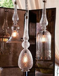Flip a switch and dial up the drama with our David Bromstad Diamond Pendant Light. Mixor match our selection of Edwardian glass pendants to create a designer look. | David Bromstad Home by Grandin Road