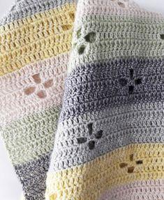 Funky fifties crochet blanket, a crohet baby blanket   Happy in Red: