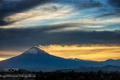 Smoking volcano and sunset by CristobalGarciaferroRubio #Landscapes #Landscapephotography #Nature #Travel #photography #pictureoftheday #photooftheday #photooftheweek #trending #trendingnow #picoftheday #picoftheweek