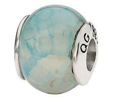 Prerogatives Sterling Light Blue Crackle AgateGemstone Bead