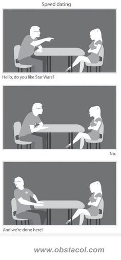 Speed Dating. Lol my question would be video games