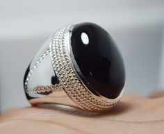 Handmade Rings, Handmade Jewelry, Sterling Silver Jewelry, Silver Rings, Mens Gemstone Rings, Oval Shape, Fasion, Ring Designs, Jewelry Rings