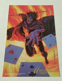 BASE CARTE MARVEL MASTERPIECES GOLD FOIL SERIES 1994 N° 101 ROGUE MINT CARD