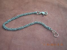 wallet chain in byzantine chain mail weave by Chainedlinks on Etsy, $69.75