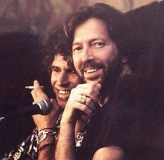 Keith Richards and Eric Clapton