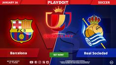 Almost weekend, why don't you enjoy La Copa del Rey on Playdoit? Barcelona vs Real Sociedad ⚽ You'll find the best sportbook here, join now!
