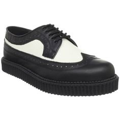 1950s Mens Black and White Wingtip Creeper Rockabilly Shoes  http://www.vintagedancer.com/1950s/1950s-mens-clothing/