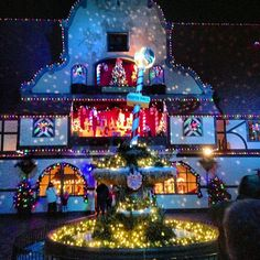 Millions of lights at Christmas Town at Busch Gardens Williamsburg!  Now that is the holiday spirit!  www.ChristmasInWilliamsburg.com #ChristmasInWilliamsburg #BuschGardens