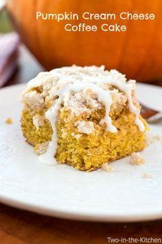 Pumpkin Cream Cheese Coffee Cake | Two in the Kitchen | Bloglovin'