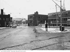 I was browsing old images of our city to compare street corners and corner stores from the past to what they looks like now. Toronto Ontario Canada, Old Images, Vintage Photographs, Nostalgia, The Past, Sidewalk, Corner, Street View, Victoria
