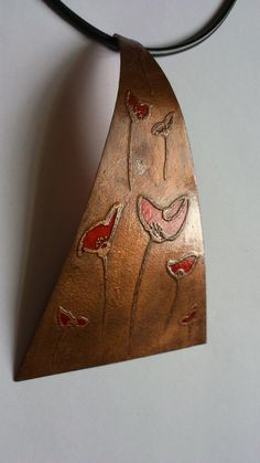Jewelry - copper, enamel