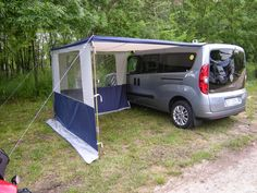 Auto Camping, Truck Bed Camping, Minivan Camping, Car Camper, Mini Camper, Camper Trailers, Van Tent, Ford Transit Connect Camper, Kangoo Camper