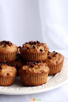Bezglutenowe, wegańskie muffinki bananowe / Vegan banana muffin glutenfreeGluten-Free, Dairy-Free