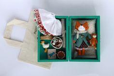 Image of Mini boxed set: fox Peppi Softies, Felt Mouse, Textiles, Sewing Dolls, Soft Dolls, Stuffed Animal Patterns, Handmade Toys, Felt Crafts, Kids Toys