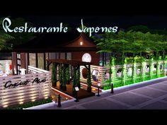 Sims 4 Loft, Sims 4 Restaurant, Lotes The Sims 4, Cafe Shop Design, Sims 4 Houses, The Sims4, Gazebo, Building A House, Deck