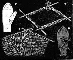 Вывязывание клина для большого пальца варежек