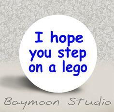 total bad karma...but funny!  A lego to the foot is soooooooo painful!