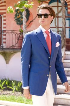 Anderson and Sheppard - Savile Row. This is summer style