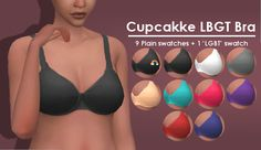 "houseofabsurdities: "" I'm back with a new piece of cc! This is a nice comfortable maxis-match bra WITH STRAPS, since EA couldn't give us a comfortable basic bra. Comes in 9 plain swatches plus a..."