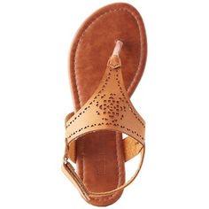 Olivia Miller Laser Cut T-Strap Sandals
